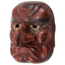 japanese for mask edo period japanese comic demon buaku kyogen mask for sale at 1stdibs