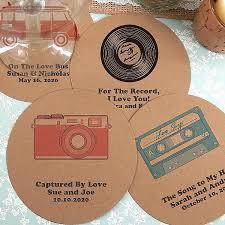 Wedding Coasters Drink Coasters Round Kraft Paper Custom Wedding Coasters