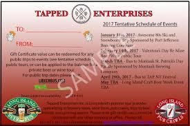 Customized Gift Certificates Gift Certificates Li Beer Bus