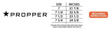 Propper Size Chart 59 Correct Boonie Hat Size Chart