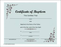 Baptism Certificate Wording A Baptismal Certificate With A Script