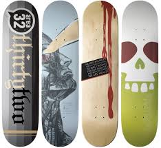 ... well here are some of these, a selection of all kinds of crazy skateboard  designs that you would think twice before skating on them.