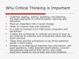 Portfolio Rubric with Emphasis on Critical Thinking   Critical