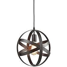 metal lighting. truelite industrial metal spherical pendant displays changeable hanging lighting fixture