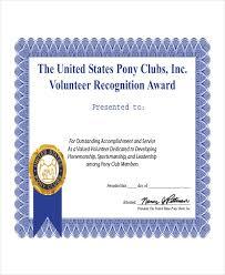 Volunteer Certificate Template 7 Free Word Pdf Document Volunteer Of