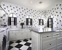 Huge elegant l-shaped ceramic floor and multicolored floor dedicated laundry  room photo in Phoenix