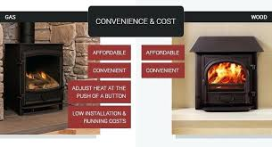 gas vs wood fireplace convenience cost for wood burners gas stoves gas wood fireplace combo
