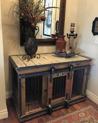 dog crates furniture style. Farmhouse Style Single Dog Kennel By And Crate! Barn Door Rollin\u0027 That Crates Furniture N