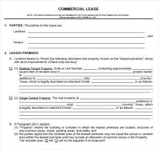 Lease Agreement Business Template Free Commercial Templates Lab ...