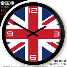 office wall clock. British Flag Large Office Wall Clock Fashion Digital Creative England Romantic Olympic Zb36 Outdoor Clocks From