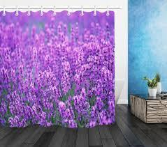 purple lavender garden fabric shower