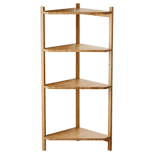 IKEA RGRUND corner shelf unit Bamboo is a hardwearing natural material.