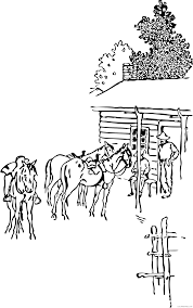 Ten thousands of years ago, the horse was the main food source for human beings. Horse Coloring Pages Horse Camp Printable Coloring4free Coloring4free Com
