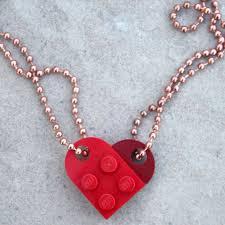 lego heart best friends f necklace diy