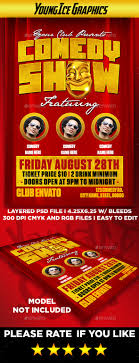 Comedy Show Flyer Template Comedy Show Flyer Template By YOUNGICEGFX GraphicRiver 2