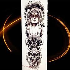 4617cm Indiánský Kmenový Válečník Dočasné Tetování Samolepky Rytíř