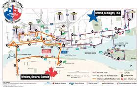 Grand Rapids Marathon Elevation Chart Detroit International Half Marathon The Course Crosses