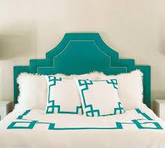 turquoise greek key white duvet cover