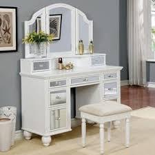 White Wood Bedroom Vanity
