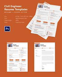 Modern Resume Cover Letters Modern Civil Engineer Resume Cover Letter Template Free