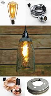 We will start with this great example of a beautiful mason jar pendant light.  This open bottom mason jar pendant allows heat to escape, which is very ...