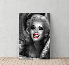 marilyn monroe and tattoos decorative art canvas print modern wall d cor artwork on marilyn monroe tattoo wall art with marilyn monroe canvas art ebay