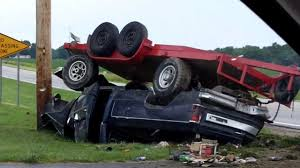 Pickup Truck and Trailer Accident in Charleston Illinois - YouTube