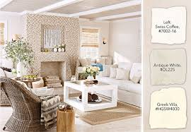 contemporary casual living room with antique white paint and a modern fireplace and neutral furnishings