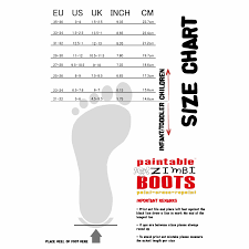 Children Boots Size Chart I Love My Design