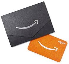 Amazon.com Gift Card for Any Amount in a Mini Envelope (Black)