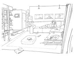 These were my portfolio for sheridan. room drawing .