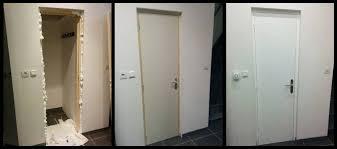 ... Pose Porte Interieur Un Bloc Porte Sur Mesure Et Pas Cher Oliv Wood  Creations