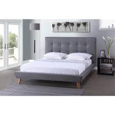 Baxton Studio Jonesy Scandinavian Style Mid-century Grey Fabric Upholstered  King-size Platform Bed - Free Shipping Today - Overstock.com - 17680638