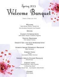 Banquet Program Examples Irams Banquet Hall Family Reunion Banquet Program Outline