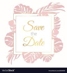 Save The Date Cards Template Save The Date Border Frame Card Template Exotic