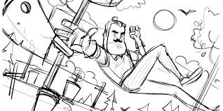 Hello Neighbor Coloring Pages Neighbour Page Download This