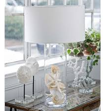 coastal style lighting. add a modern contemporary coastal style to your home with this extra large inch tall glass cylinder display lamp removable shade make filling lighting