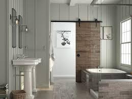 Sliding Barn Door Bathroom Privacy : Traditional Bathroom Decor ...