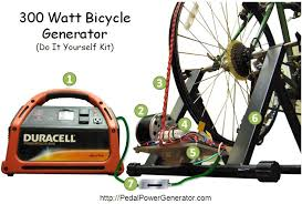 according to pedalpowergenerator com it can be pretty expensive to make your own bicycle generator take a look at the list of components you would need to