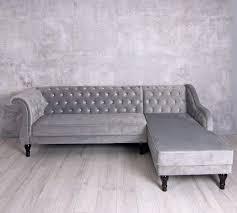 Ecksofa Samt Hollywood Sofa Couch Eckcouch Wohnlandschaft