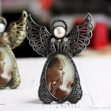 2018 classic picture frame baby photo frame angel wings vintage style photo frames for kids cadre photo moderne studio decor frames from cindy668