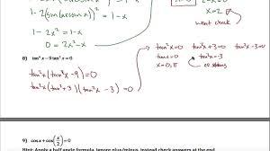 math exercises math problems trigonometric equations and
