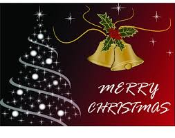 Christmas Card Images Free Merry Christmas Card With Tree And Bells Vector Free Download