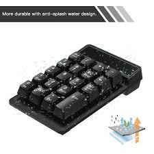 19 phím 2.4 gam Không Dây Tiếng Ồn Thấp Mini Bàn Phím Số Không Thấm Nước  Chất Liệu ABS bàn phím số Cho Microsoft Android và iMac|Keyboards