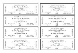 Numbered Ticket Template Gallery Of Numbered Raffle Ticket Template