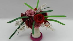 Paper Quilling Flower Bokeh How To Make A 3d Miniature Quilling Flower Bouquet Dollhouse Quilling Diy Tutorial Free Pattern
