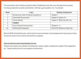weekly syllabus template 5 6 syllabus format leterformat