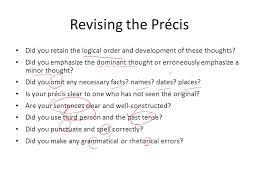 rhetorical precis template precis template example precis order precis