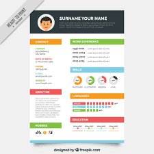 Graphic Designer Resume Template Vector Free Download With Regard To Resume  Design Templates