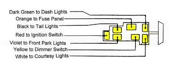 Chevy Light Switch Cover 57 Chevy Headlight Switch Wiring Wiring Diagram